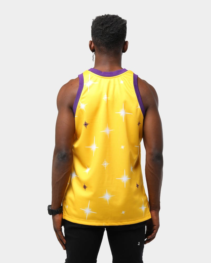 Mitchell & Ness Los Angeles Lakers Airbrush Swingman NBA Jersey Gold