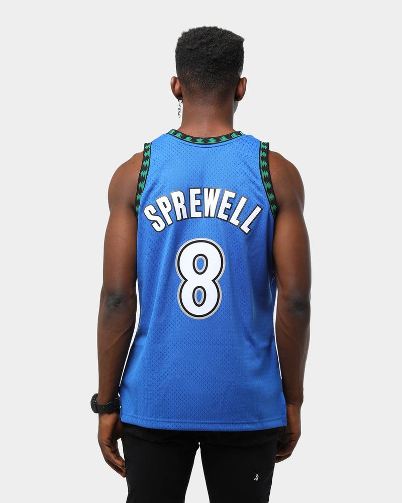 Mitchell & Ness Men's Minnesota Timberwolves Latrell Sprewell #8 '03-'04 Swingman NBA Jersey Navy