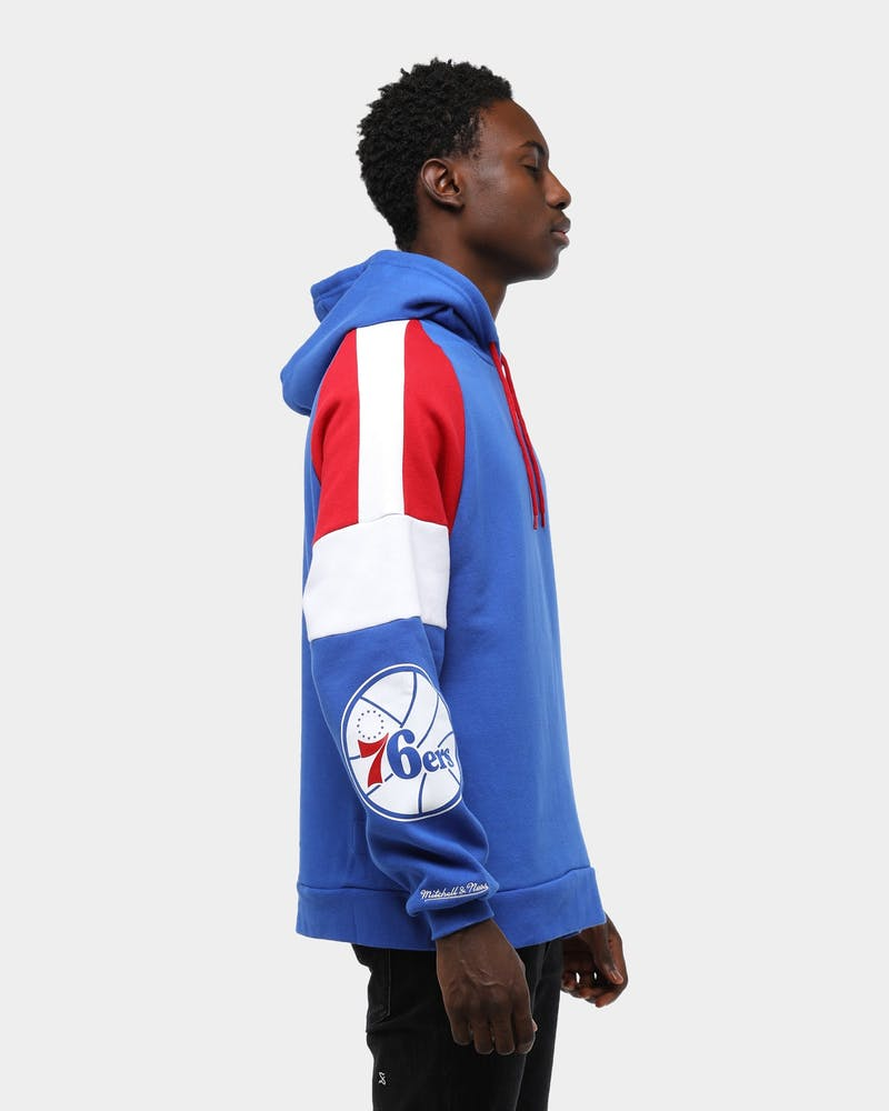 Mitchell & Ness Men's Philadelphia 76ers Instant Replay NBA Hoodie Royal/Red