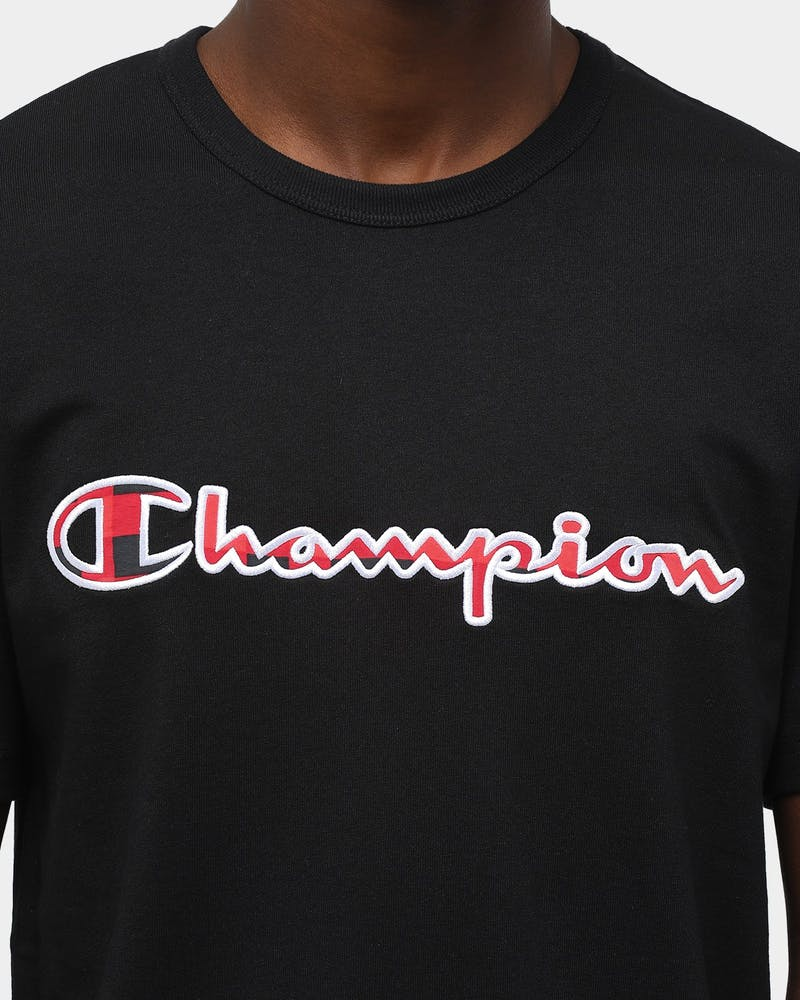 Champion Men's Heritage Script Tee Black
