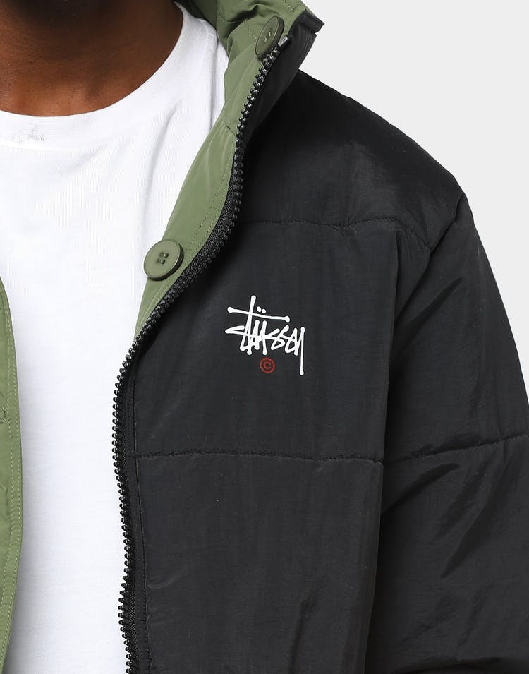 Stussy Men's Graffitti Reversible Puffa Flight Green/Black
