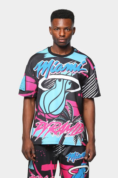 Black Pyramid Men's Miami Heat Vice Logo Shirt Black