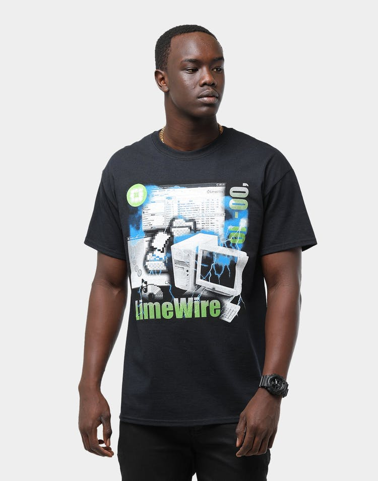 American Thrift Men's Limewire Vintage Tee Washed Black