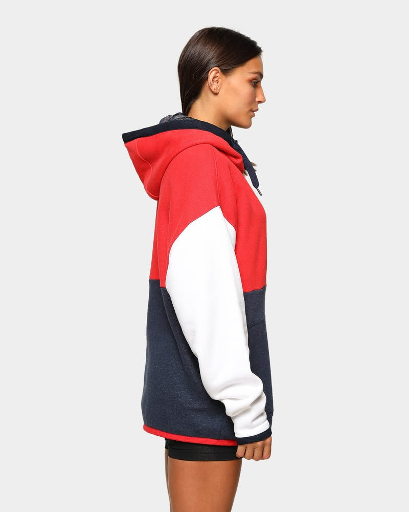 Tommy Jeans Men's TJM Colourblock Hoodie Deep Crimson/Multi