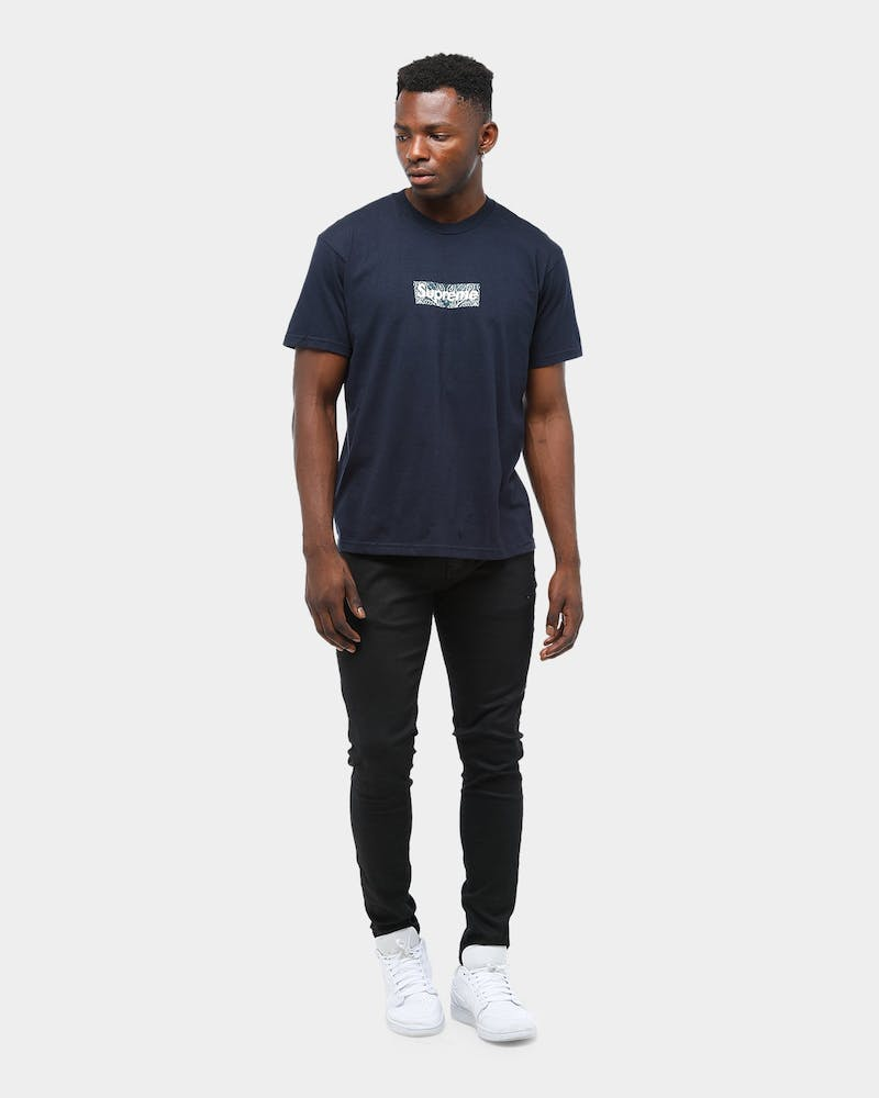 Supreme Men's Bandana Box Logo T-Shirt Navy