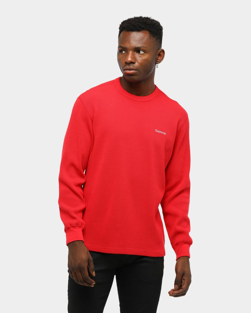Supreme Men's HQ Waffle Thermal Red