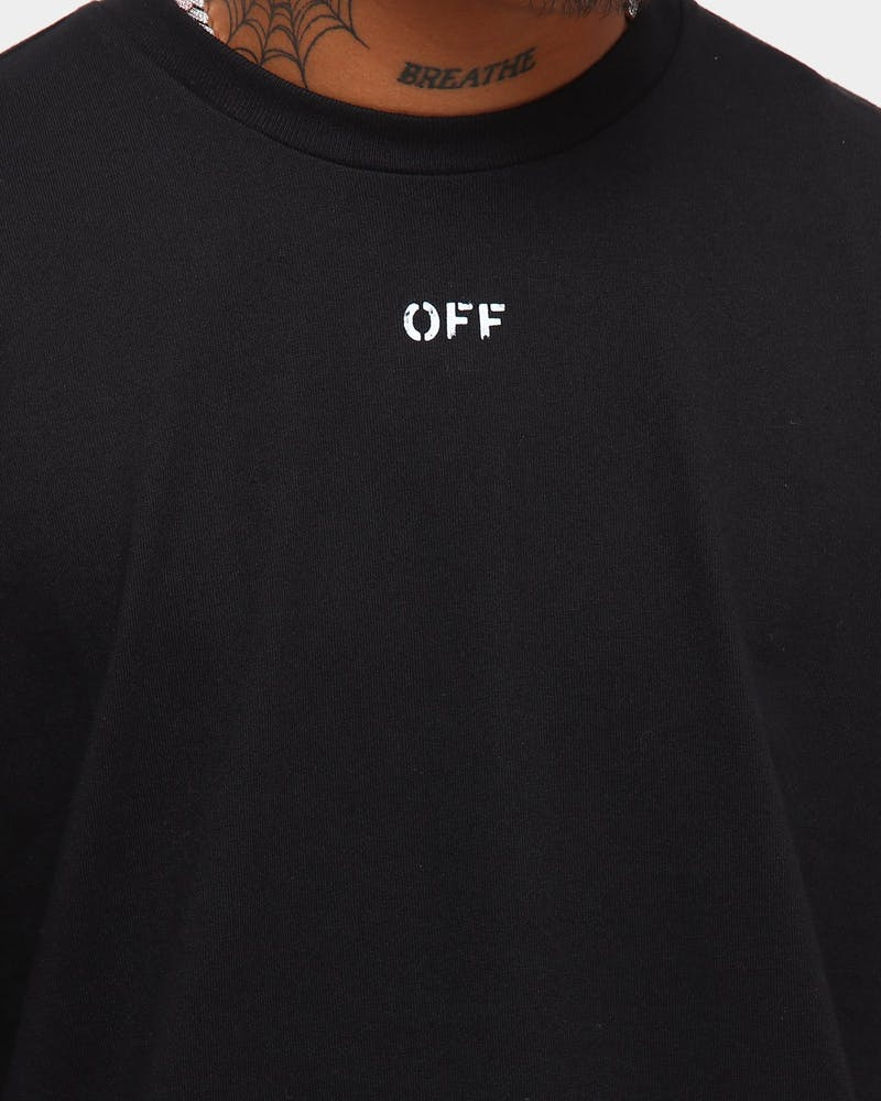 Off White Stencil Long Sleeve T-Shirt Black/White