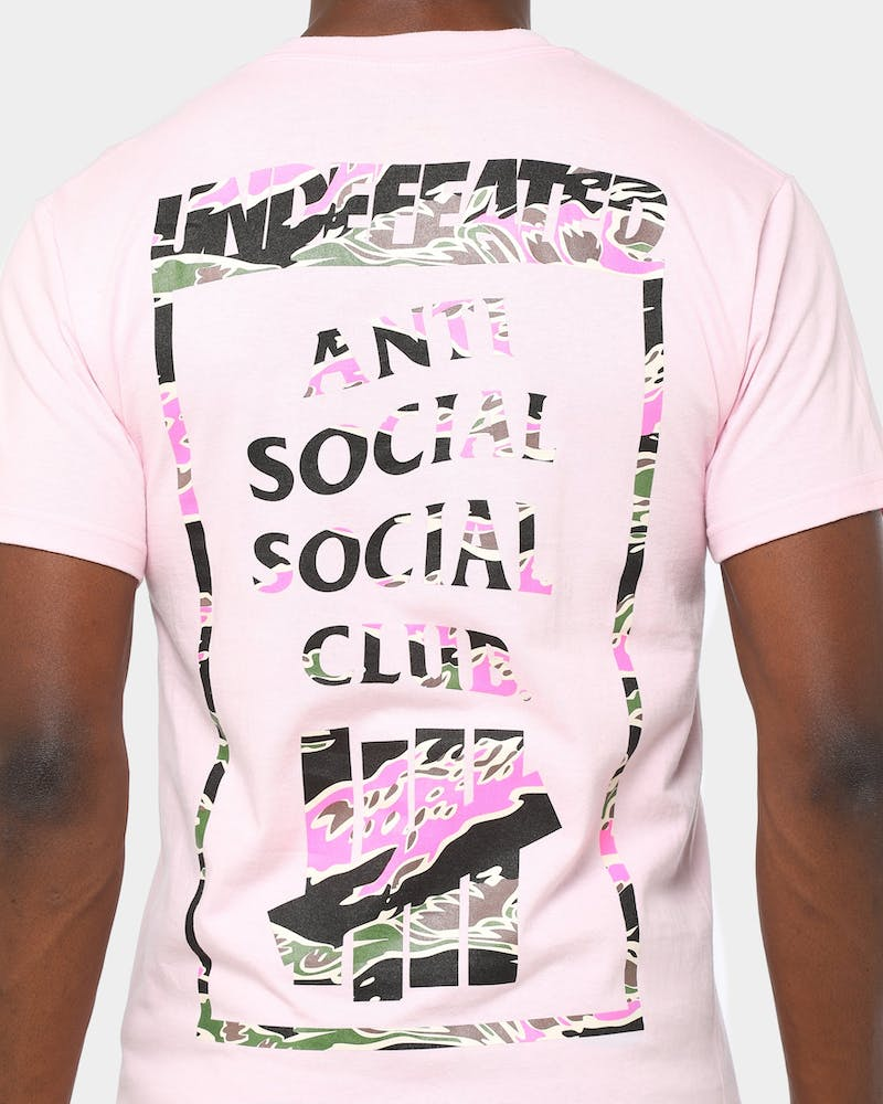 Anti Social Social x Undefeated Club Men's 2015 T-Shirt Pink