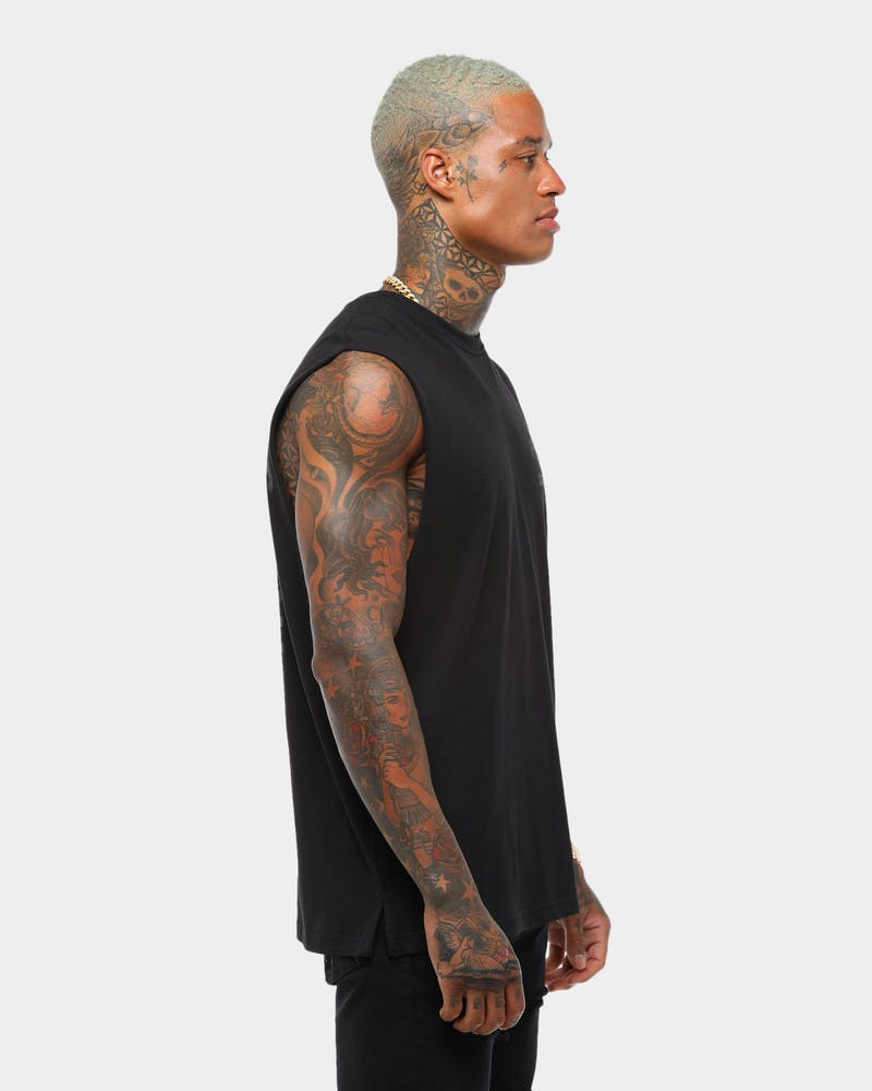 Crooks & Castles Big & Bold Muscle Tee Black