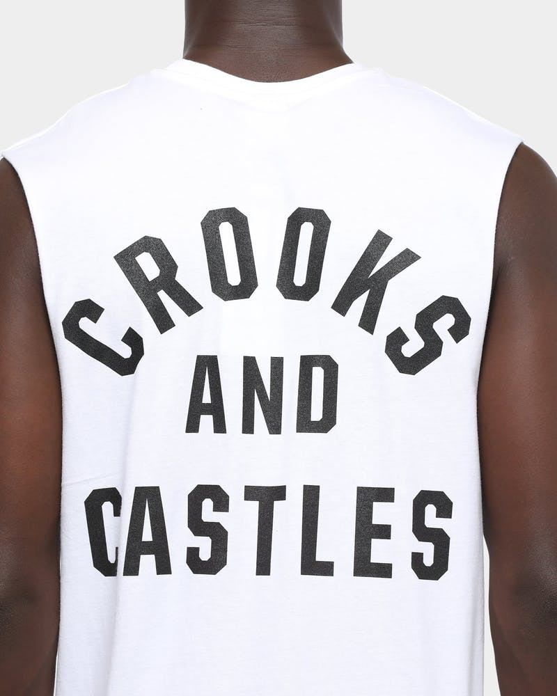 Crooks & Castles Big & Bold Muscle Tee White