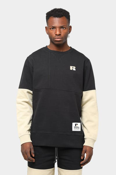 Russell Athletic x Culture Kings Reverse Panel Crew Sweatshirt Black/Stone