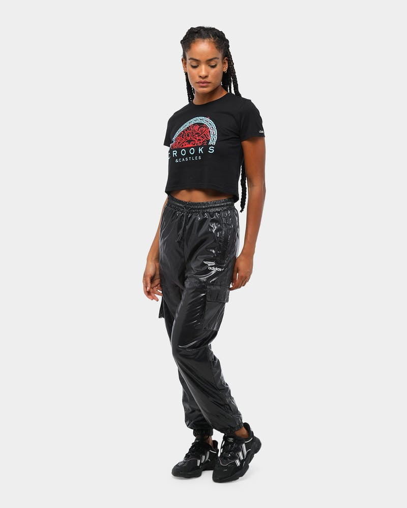 Crooks & Castles Women's Medusa Head Cropped T-Shirt Black