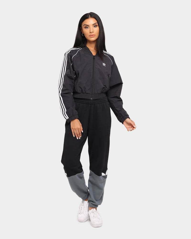 Adidas Women's Cropped Fashion Track Jacket Black