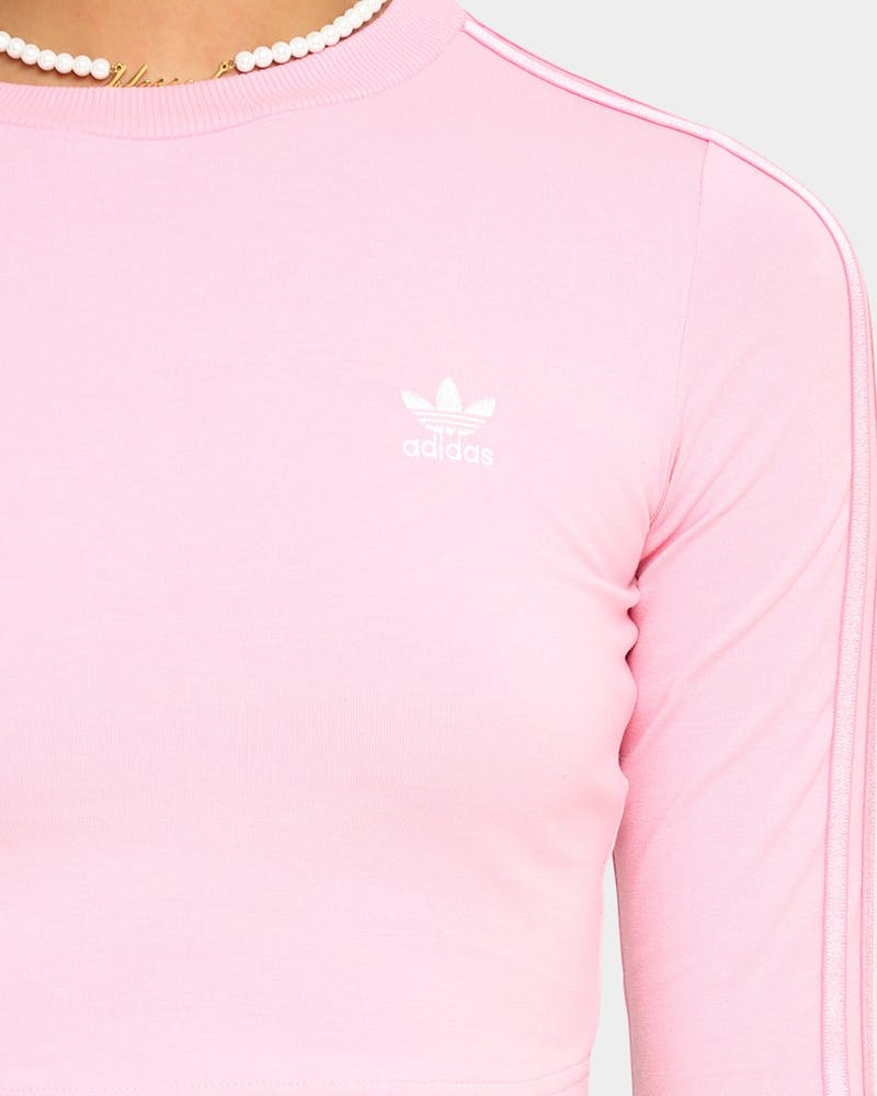Adidas Women's Cropped Long Sleeve T-Shirt Light Pink