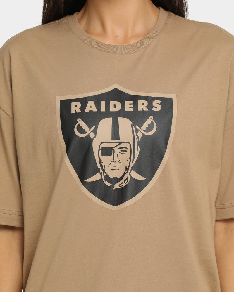 New Era Raiders Oversized T-Shirt Khaki/Black