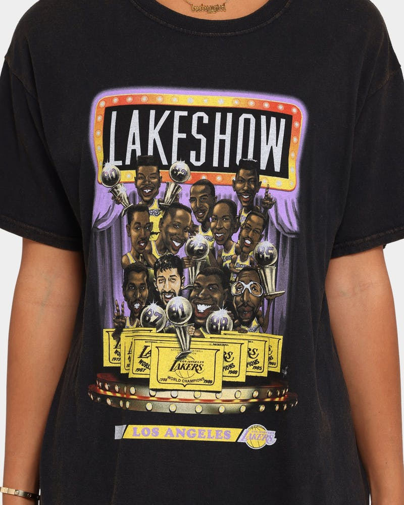 Mitchell & Ness Los Angeles Lakers Cartoon Series T-Shirt Vintage Black