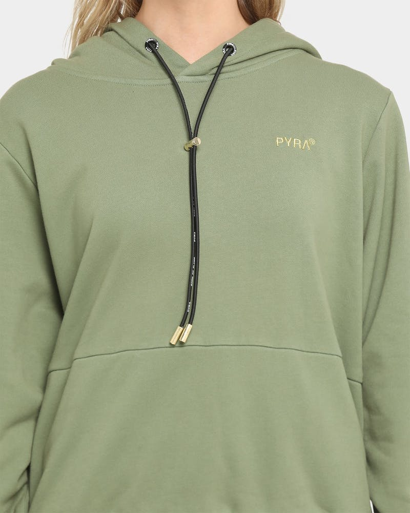 PYRA Women's Transition Hoodie Olive Green