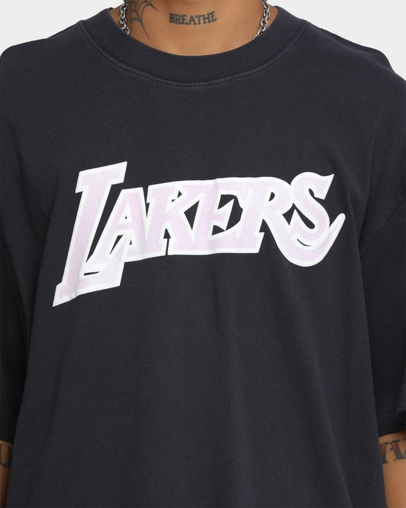 Mitchell & Ness Los Angeles Lakers Cloudy Skies City Edition T-Shirt Vintage Black