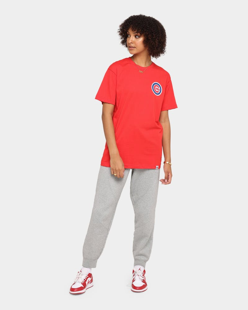 Majestic Athletic Chicago Cubs Jeaner Short Sleeve T-Shirt Red