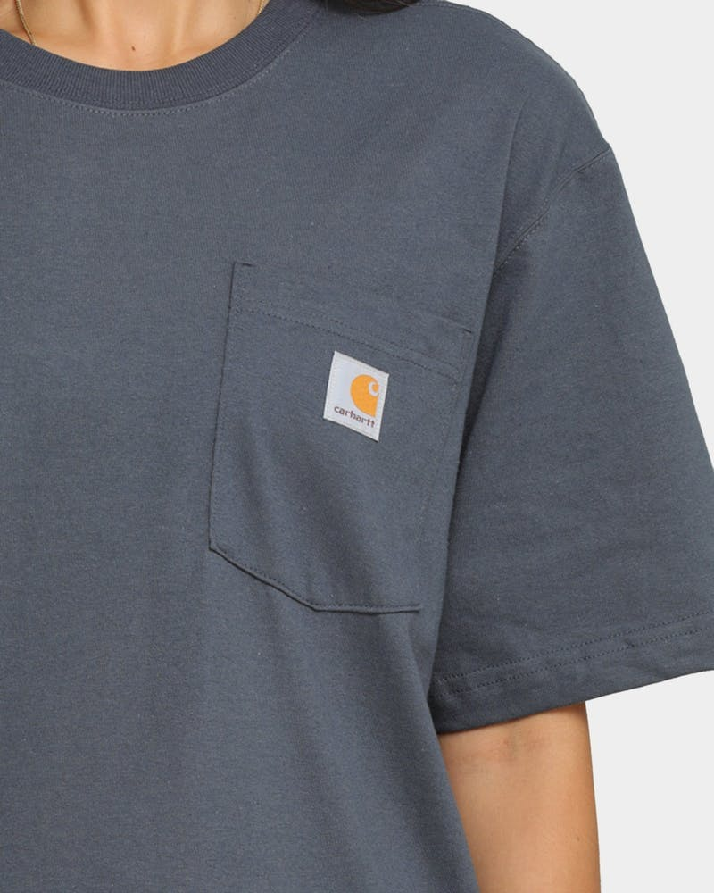 Carhartt Men's Carhartt Pocket Short Sleeve T-Shirt Bluestone