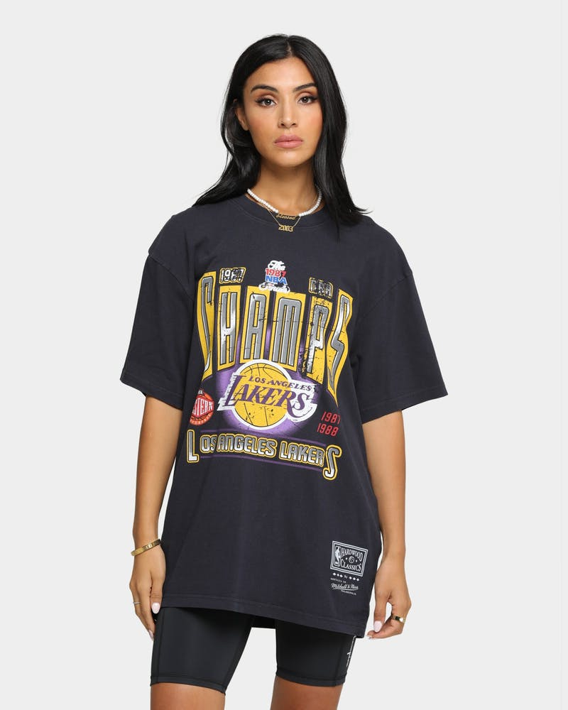 Mitchell & Ness Los Angeles Lakers Winner Takes All Vintage T-Shirt Faded Black