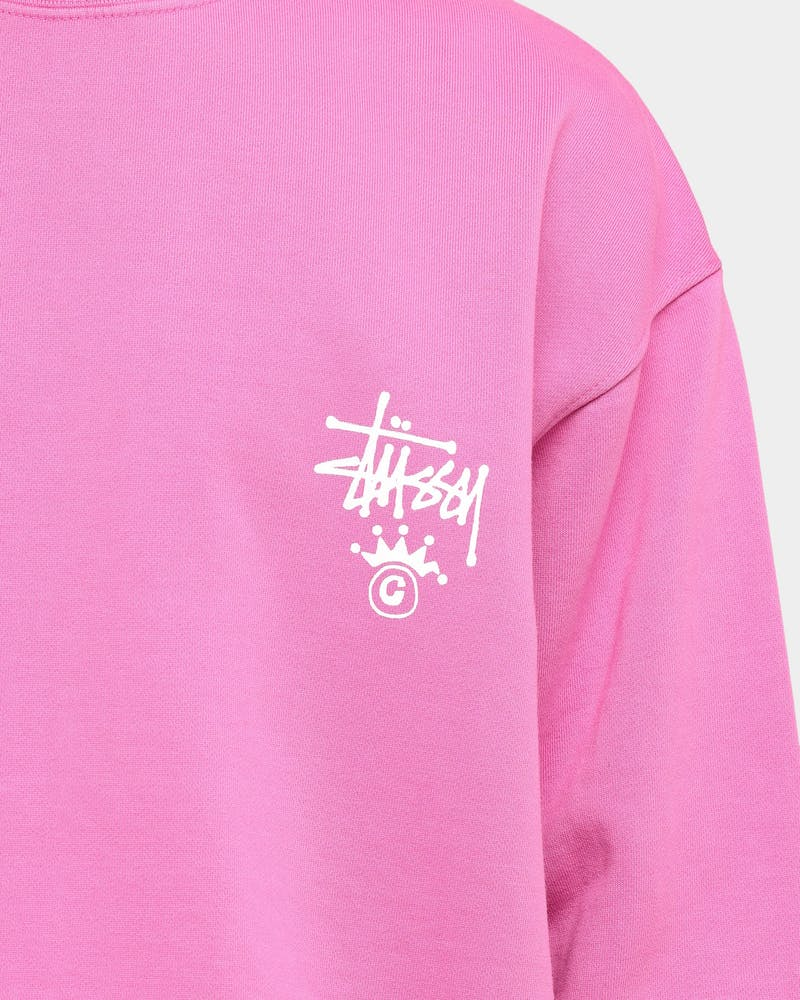Stussy C Crown Crew Pigment Berry