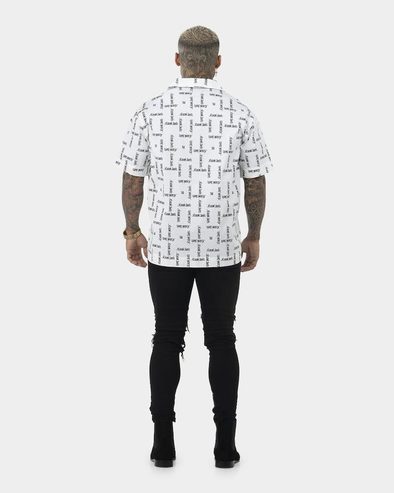 Saint Morta Canal State Short Sleeve Shirt White/Black