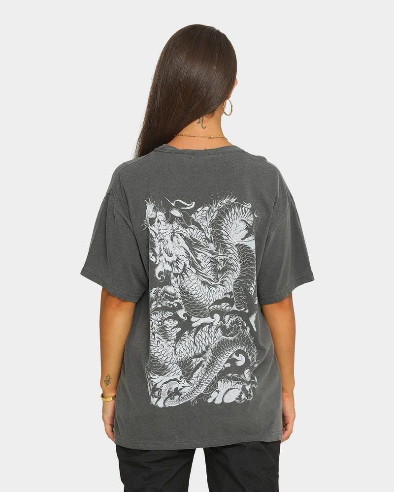 Rats Get Fat Men's Dragon Vintage T-Shirt Pepper