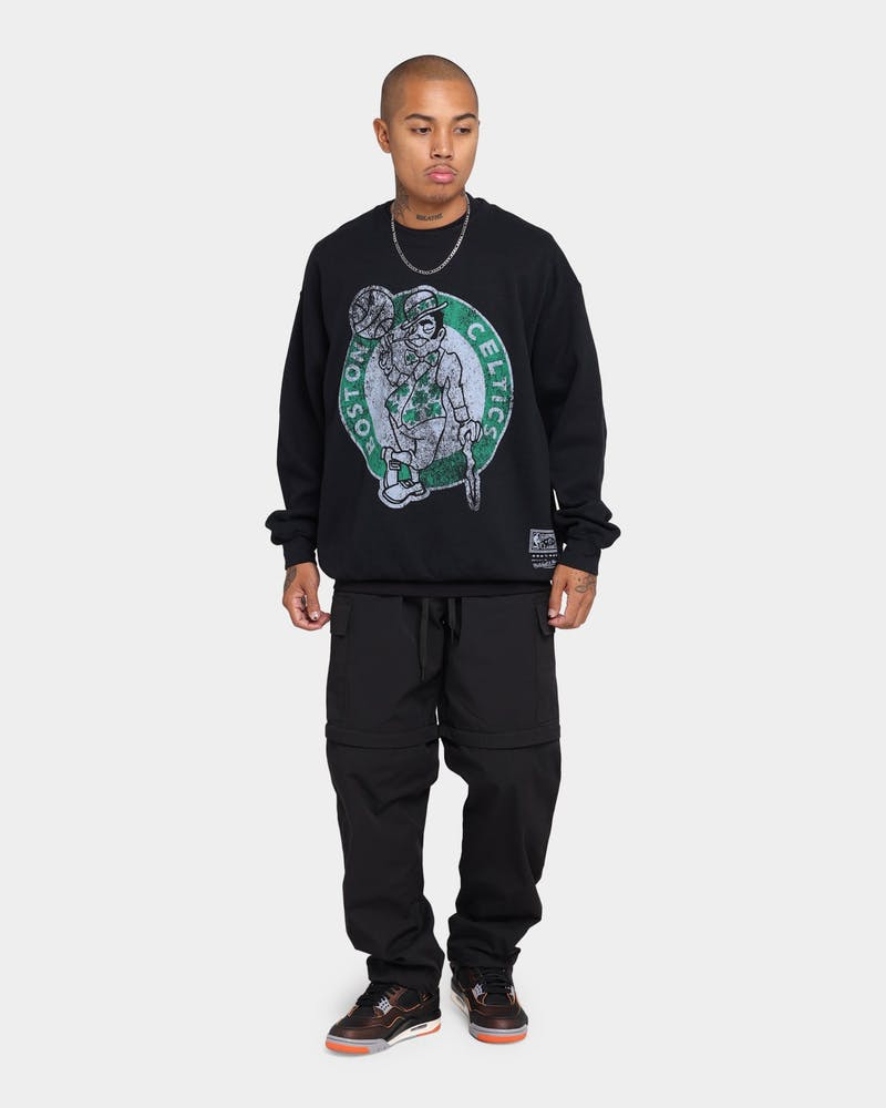 Mitchell & Ness Boston Celtics Oversize XL Logo Crew Sweat Vintage Black