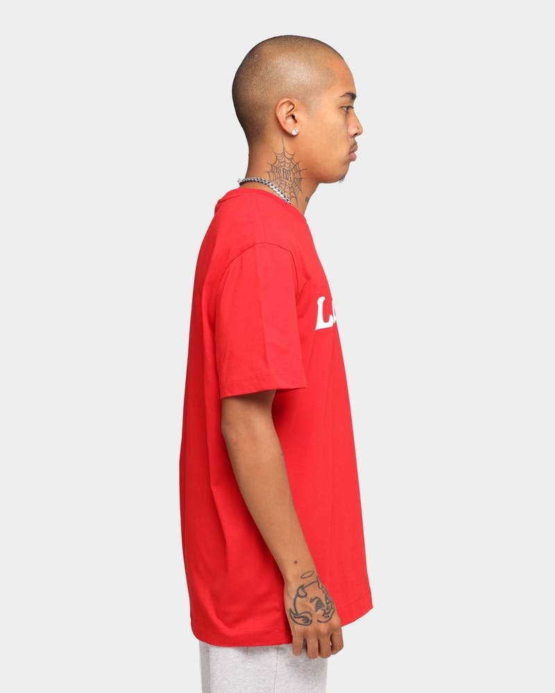 Lacoste Wording Jersey T-Shirt Red