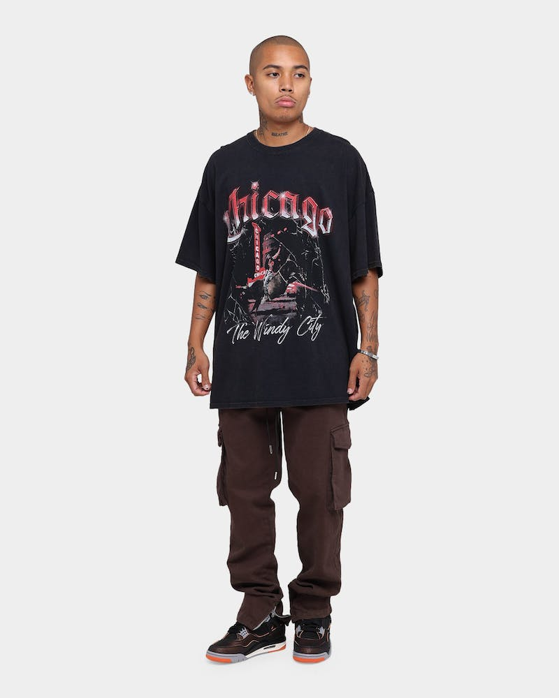 Goat Crew Chicago Vintage T-Shirt Black Wash