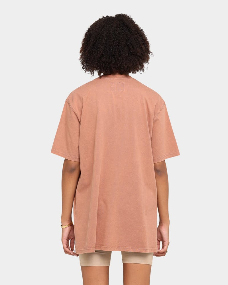 Carre Groove Vintage T-Shirt Brown