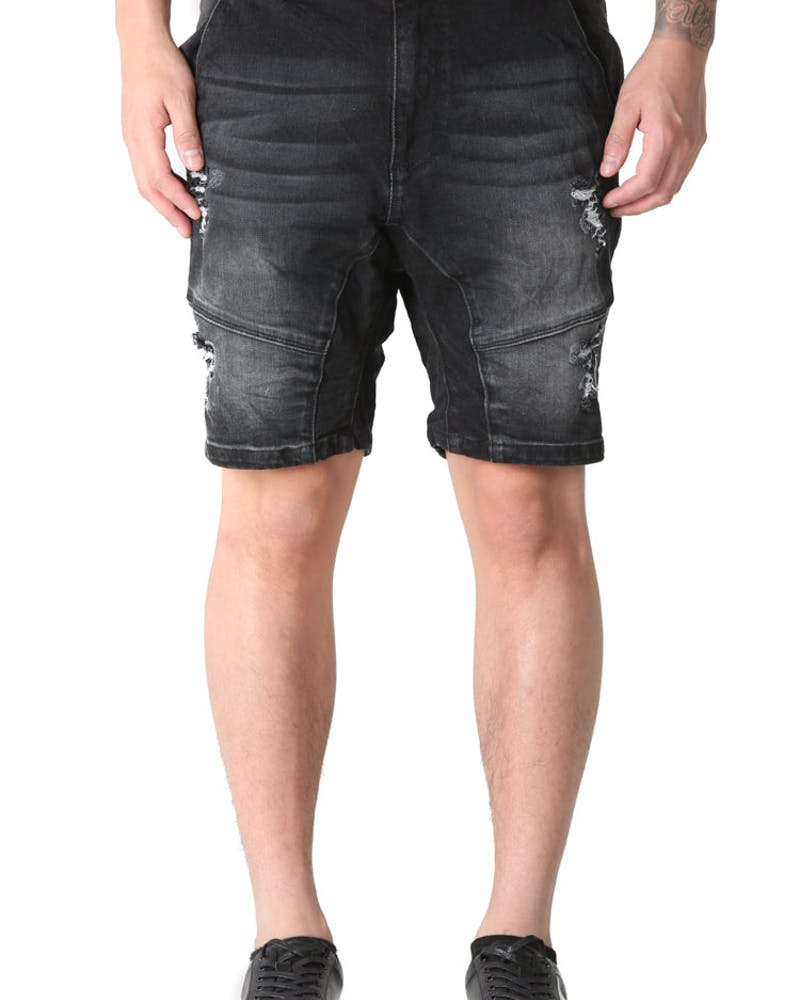 Kiss Chacey Messiah Denim Short Washed Black