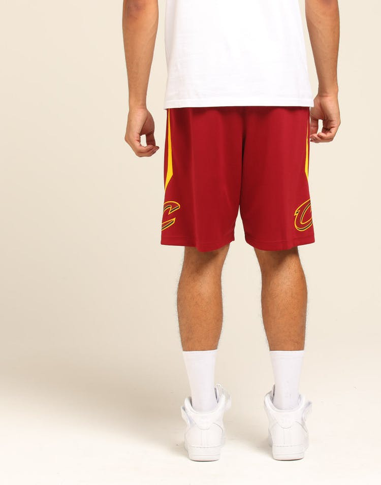 3a6ad22fff3 Cleveland Cavaliers Nike Icon Edition Swingman Shorts Red/Gold ...