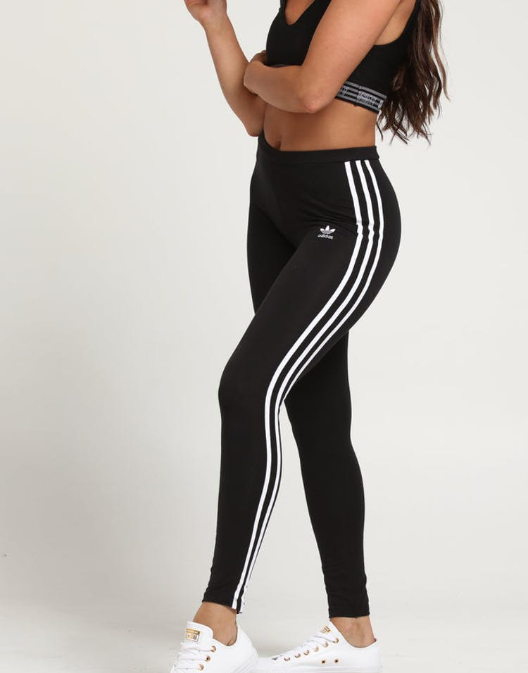 cd7a1ae4d577b9 ADIDAS WOMENS 3-STRIPE TIGHT BLACK – Culture Kings
