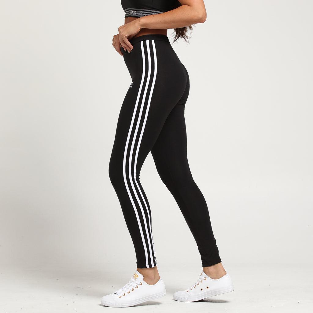 adidas Essentials 3 Stripes Tights Black | adidas Canada
