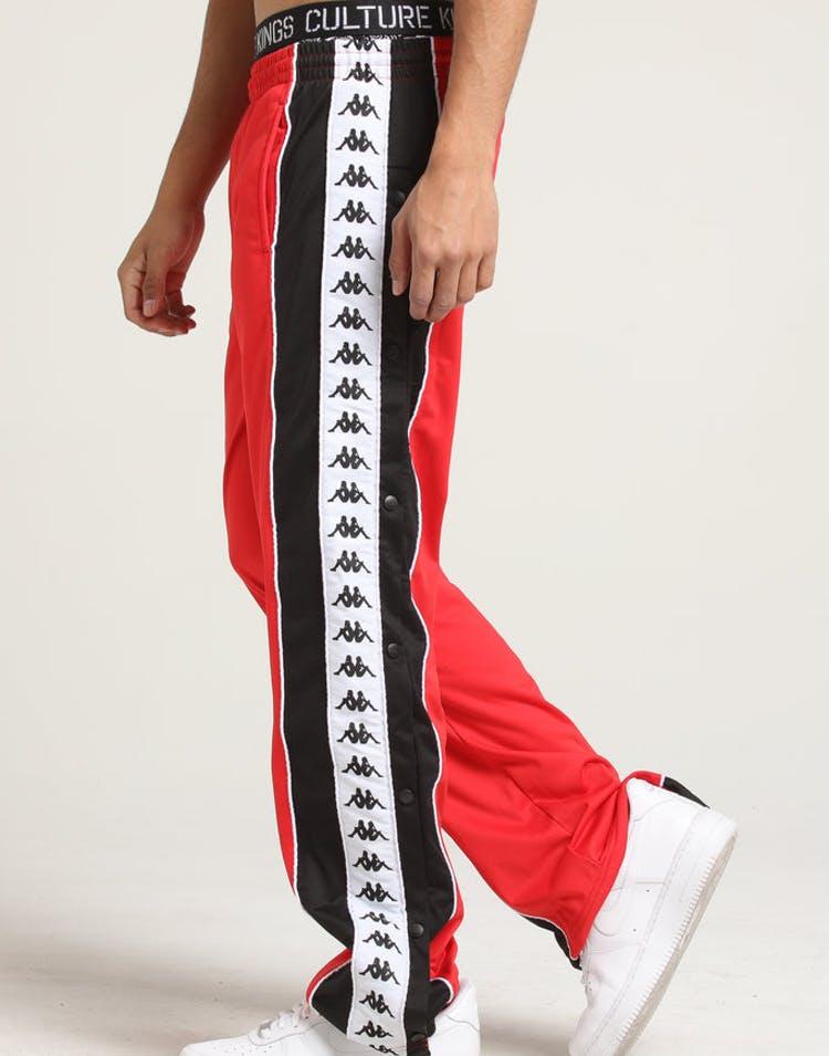 1c747daa4 Kappa 222 Banda Big Bay Pant Red/Black/White