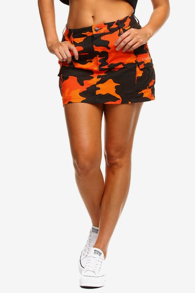 Status Society Guise Skirt Orange Camo