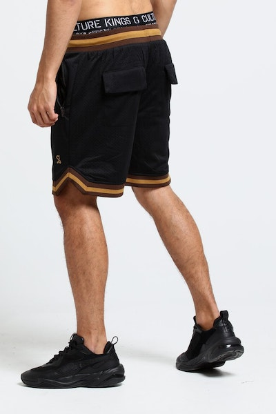 Saint Morta Veratas Mesh Short Black/Brown/Beige