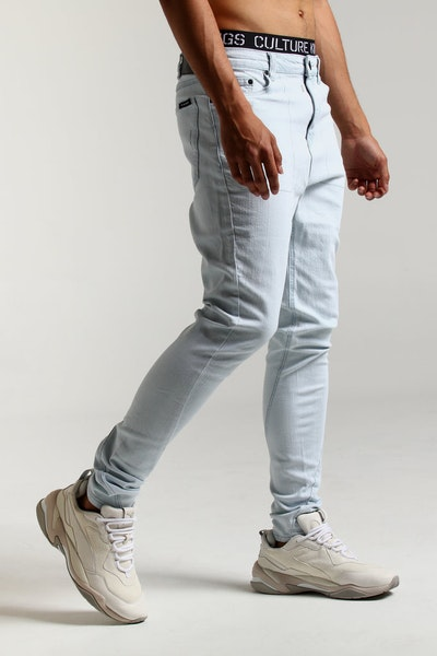 The Anti-Order Non-Stencil Lowrider Jean Bleach Wash