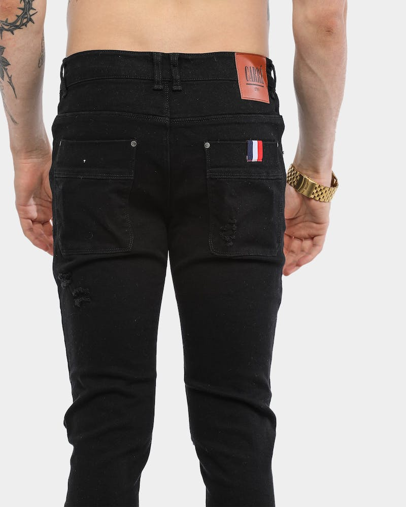 Carré Endommage Jeans Black Denim