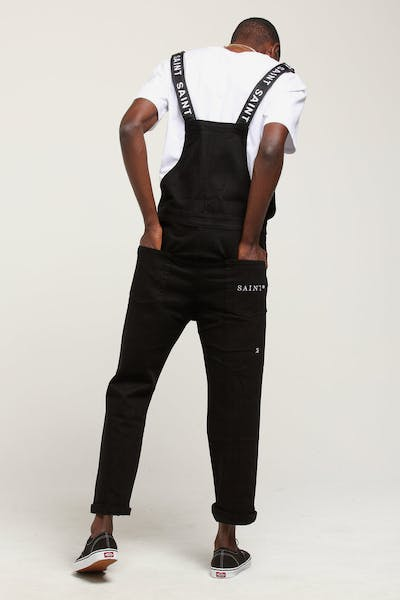 Saint Morta Shawtys Denim Dungaree Black
