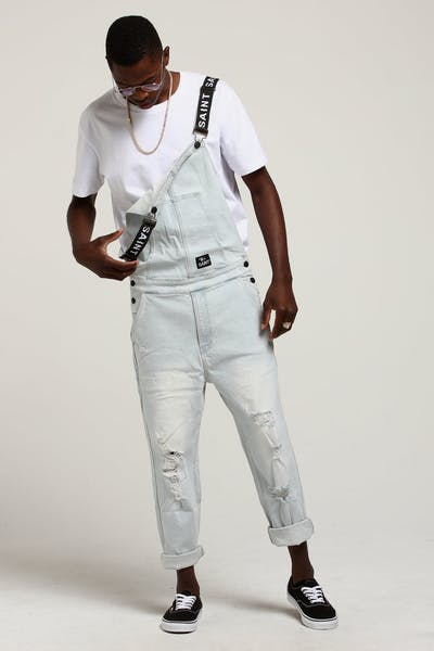 Saint Morta Shawtys Denim Dungaree Light Blue