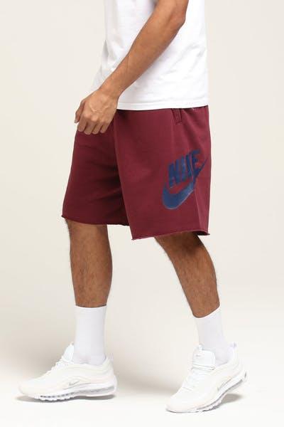 216a68a424750c Nike Sportswear Short Maroon