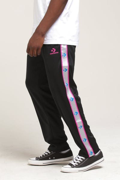 CONVERSE METALLIC TAPE STAR CHEVRON TRACKPANT Black