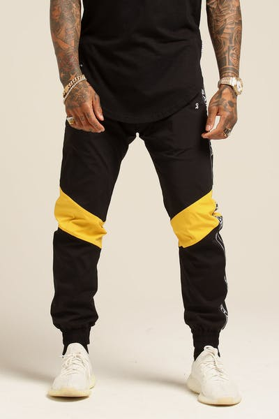 Saint Morta Methods Trackpant Black/Yellow
