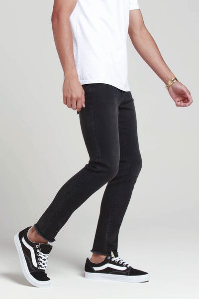 New Slaves Cropped Jean Black