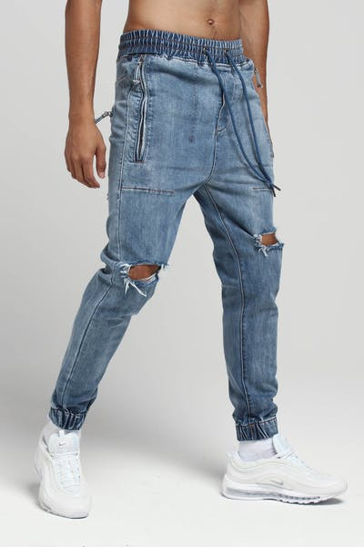 Thing Thing Cuffed Front Jean Light Wash Torn