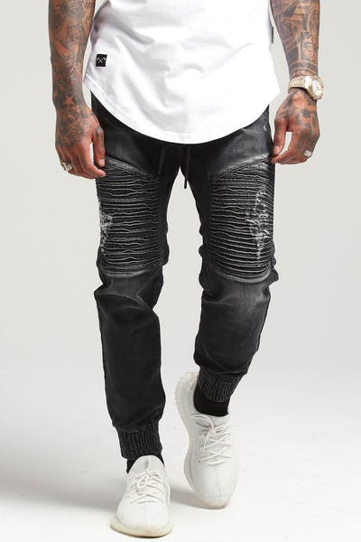 Saint Morta United Jogger Black Stonewash