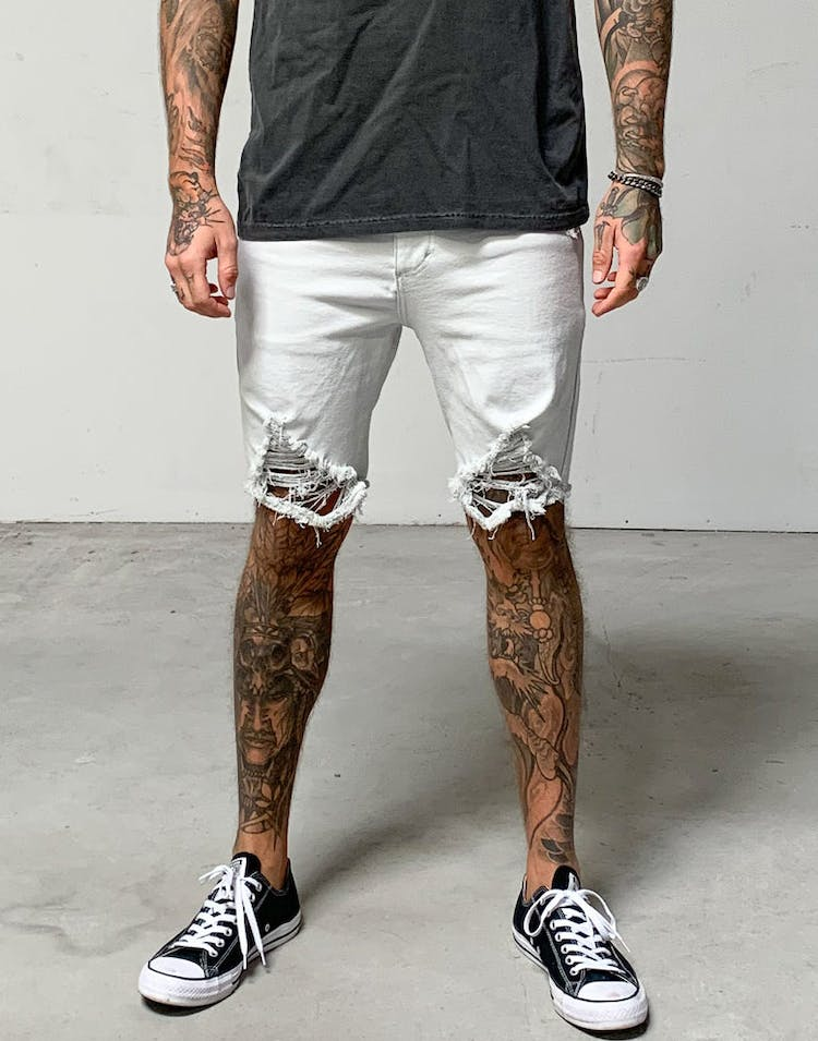 478dfd1f34 District Goods Ice Denim Washed Short Ice Grey – Culture Kings